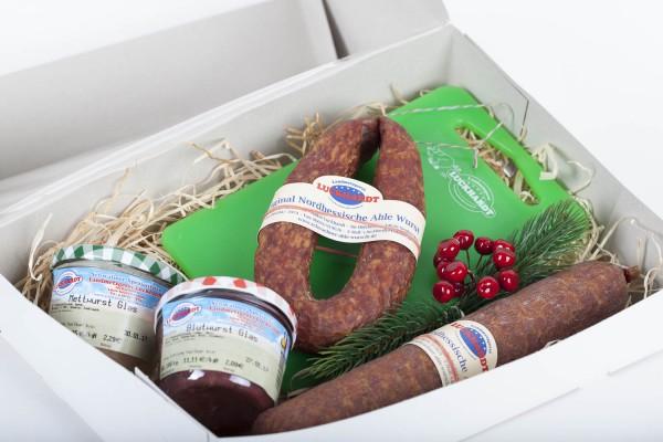 """Geschenk Karton """"Schwälmer leckereien aus dem Wursthaus"""""""